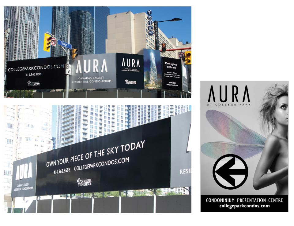 High Rise, Canderel, Aura, Signage