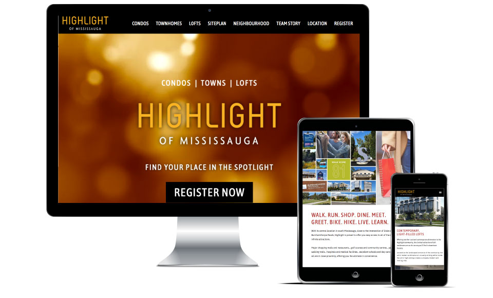 High Rise, Hazelton Developments, Highlight of Mississauga, Website