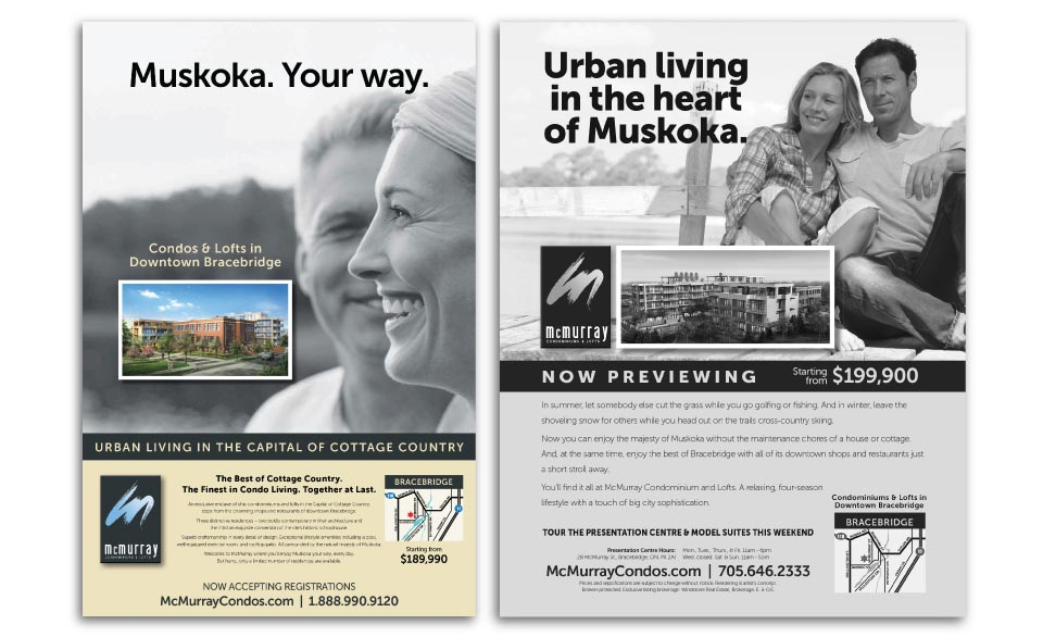 High Rise, John Davies,  McMurray Condominiums & Lofts , Print Advertising