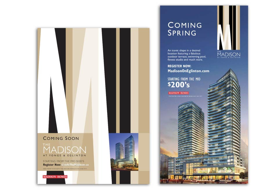 High Rise, Madison Homes, The Madison, Print Advertising