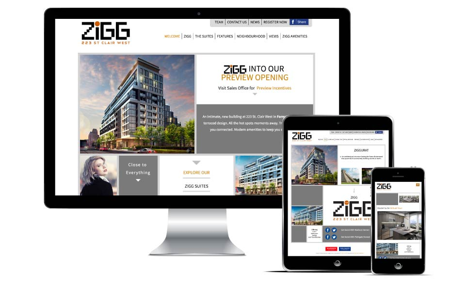 High Rise, Madison Homes, Zigg, Website