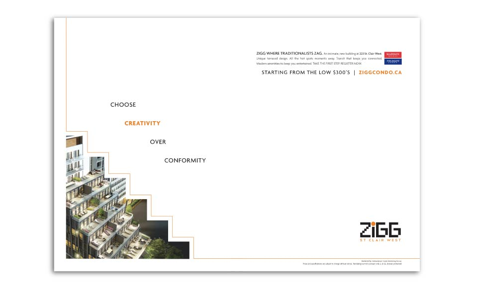 High Rise, Madison Homes, Zigg, Print Advertising