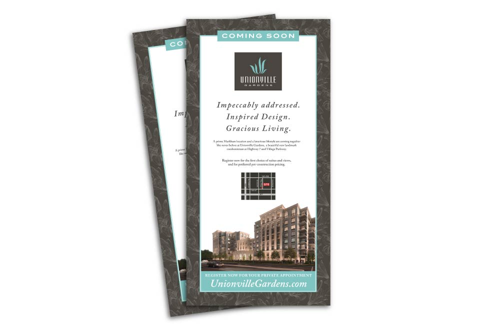 High Rise, Wyview Group, Unionville Garden, Print Advertising