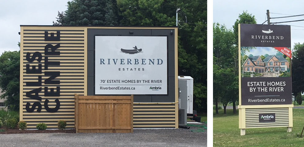 Low Rise, Ambria Homess, Riverbend Estates , Outdoor Advertising