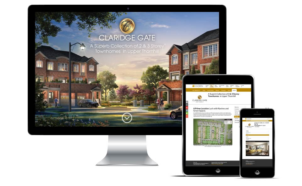 Low Rise, Andrin Homes, Claridge Gate, Website