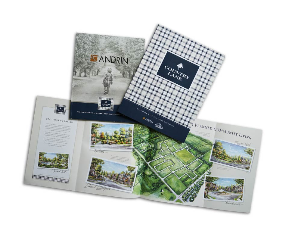 Low Rise, Andrin Homes, Country Lane, Print Material