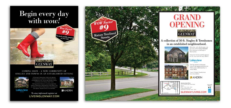 Low Rise, Andrin Homes <br />&<br /> Lakeview Homes, Glenway, Print Advertising