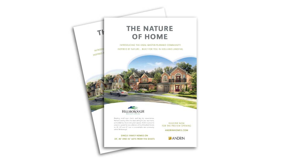 Low Rise, Andrin Homes, Hillsborough, Print Advertising