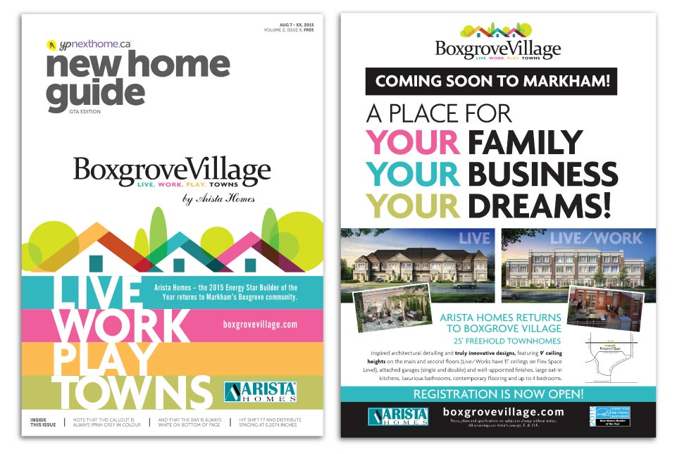 Low Rise, Arista Homes, Boxgrove Village, Print Advertising