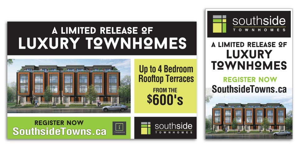Low Rise, i2 Developments, Southside Townhomes, Signage