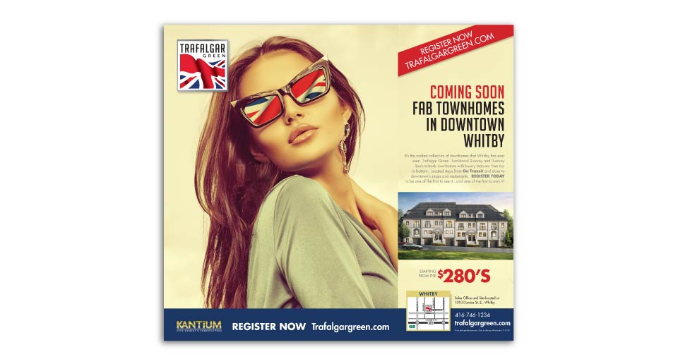 Low Rise, Kantium Developments, Trafalgar Green, Print Advertising