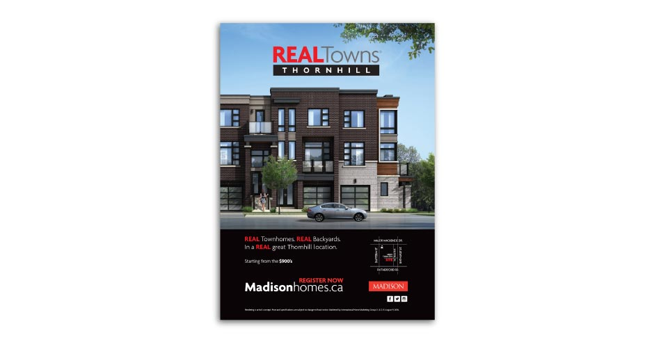 Low Rise, Madison Homes, Real Towns, Print Advertising
