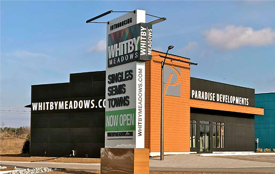 Low Rise, Paradise Developments, Whitby Meadows, Sales Center-1